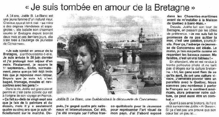 «Je suis tombée en amour de la Bretagne»